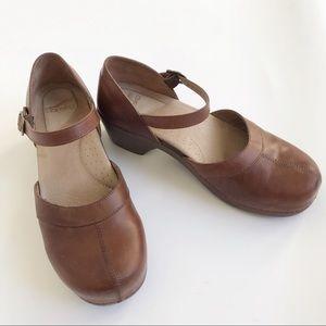 Dansko Mary Jane Shoes Clogs Brown 42